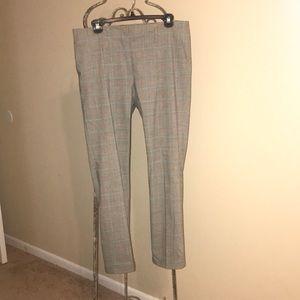 Zara plaid straight leg business pants.